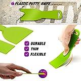URTOYPIA Plastic Putty Knife Set Green Flexible