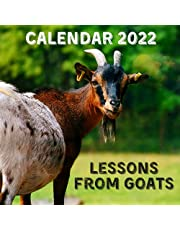 Lessons From Goats Calendar 2022: September 2021 - December 2022 Monthly Planner Mini Calendar With Inspirational Quotes