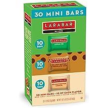 Larabar Minis Gluten Free Bar Variety Pack, Apple Pie, Peanut Butter & Peanut Butter Chocolate Chip Cookie, 0.78 oz Bars (30 Count)