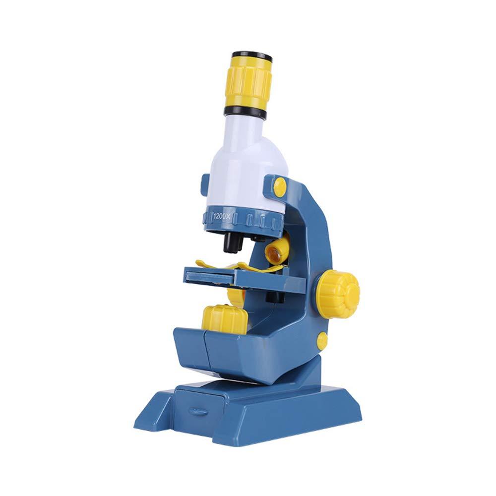 Sunbobo Kinder Wissenschaft Spielzeug Mikroskop für Anfänger und Kinder Vergrößerung 100-1200x Mikroskop Science Kits für Kinder