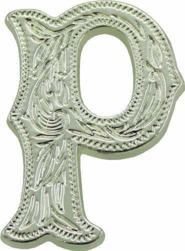 Shiny Letter Silver - Springfield Leather Company's Alphabet Letter Concho, P (Shiny Nickel/Silver)
