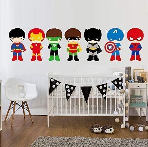 MacDecal.de Wandtattoo SUPER Hero Maske Set Kinderzimmer Wandsticker Wandaufkleber Babyzimmer schwarz