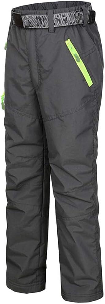 DianShaoA Pantalones De Escalada para Niño Pantalón De Esquí Niña Pantalon Impermeable Trekking Softshell Pantalones Deporte De Senderismo