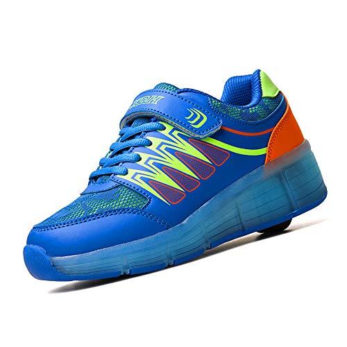 YUHJ led Shoes Recreational Sports Running Children's Luminous Shoes(,Blue,32) -