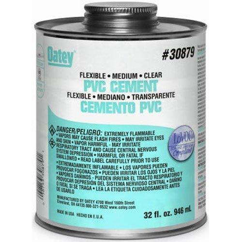 Oatey 30875 Lo-VOC PVC Flexible Clear Cement, 4-Ounce by Oatey