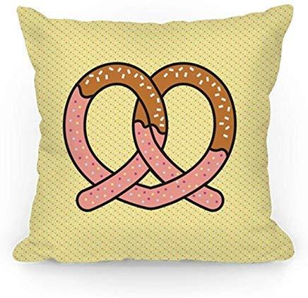 ACOVE Chocolate Dipped Pretzel Throw Pillow Covers Cushion Case 18x18 inch ()