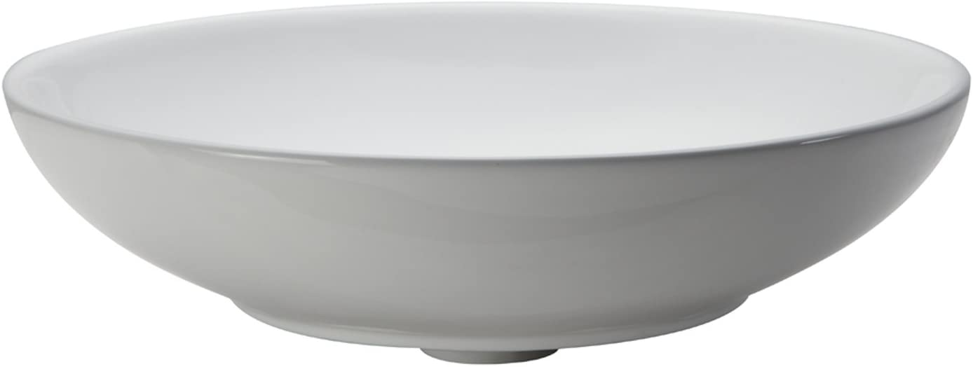 DECOLAV 1467-CWH Ryenne Classically Redefined Round Vitreous China Above-Counter Lavatory Sink, White