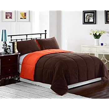 195256aace Cozy Beddings 3-Piece 88 by 88-Inch Reversible Down Alternative Comforter  Set,