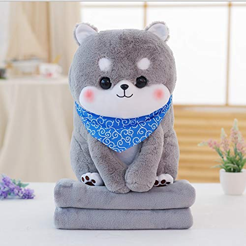 EXTOY Punidaman Cute Cartoon Stuffed Animals Shiba Inu with Blanket Inside Plush Toy Dog Soft Pillow for Kids Must Have Toys 4 Year Old Boy Gifts The Favourite Comic by EXTOY