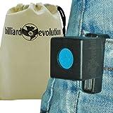Magnetic Chalk Holder with Billiard Evolution Drawstring Bag