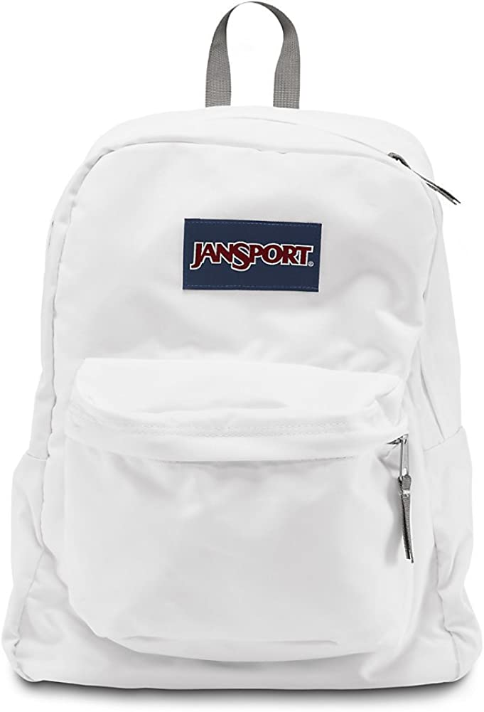 JanSport Superbreak Backpack – White – Classic, Ultralight