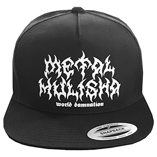 Metal Mulisha Logo Mens Hat - Metal Mulisha Men's New Era Trucker Snapback Logo Baseball Cap Hat, Grind Black, OSFM