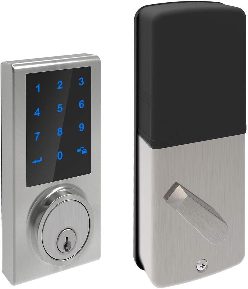 Signstek Keypad Touchscreen Deadbolt Lock with Z-Wave, Compatible with Alexa