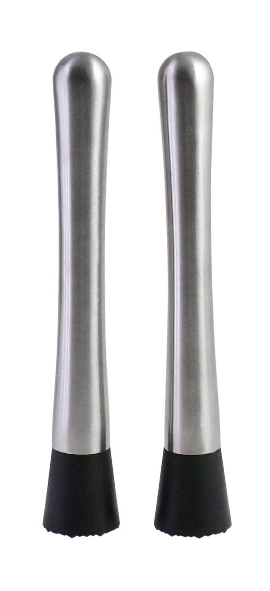 Stainless Steel Cocktail Muddler Ice Crusher Stick Mixing Spoon,Set of 2 GangChi