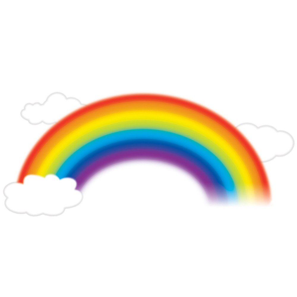 RoomMates RMK1629GM Over the Rainbow Peel & Stick Giant Wall Decal