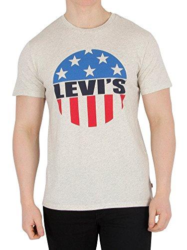 Levi's Uomo Grafica shirt T Bianca xq8qYOX