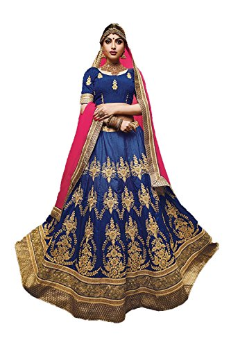 IWS Indian Women Designer Wedding Blue Lehenga Choli Fabz-2093