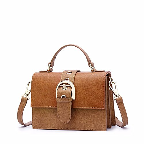 2018 la Sra. New Wild diagonal Shoulder Bag, golpe en la pequeña plaza de bolsas,Blanco Light Brown