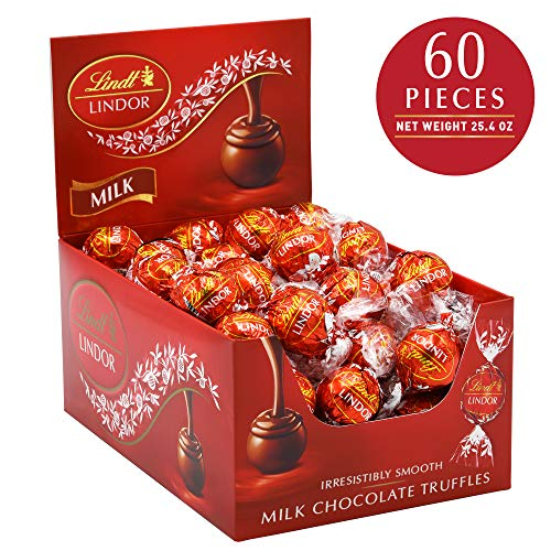 (Lindt LINDOR Milk Chocolate Truffles, 25.4 oz, 60)