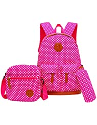 Moonwind Kids School Backpacks for Girls Teens Shoulder Book Bags Polka Dots