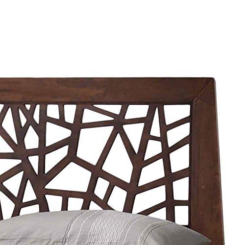 Wholesale Interiors Baxton Studio Solid Wood Platform Base Bed Frame, King, Dark Brown