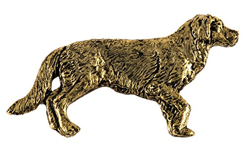 Creative Pewter Designs Golden Retriever 22K Gold Plating Pin, DG390F ()