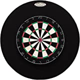 29'' Professional Dartboard Backboard, Round (Black)