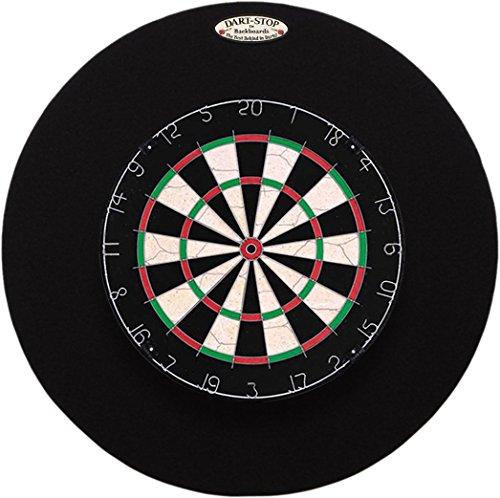29'' Professional Dartboard Backboard, Round (Black) by Dart-Stop