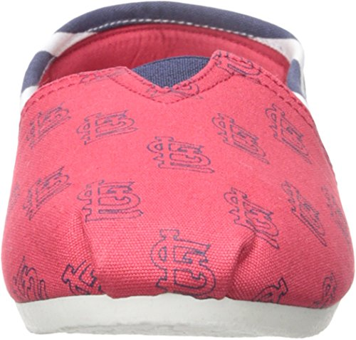 Women's Mlb Forever Louis Slippers Slip Shoe On St Stripe Collectibles Cardinals Canvas qww67SxT
