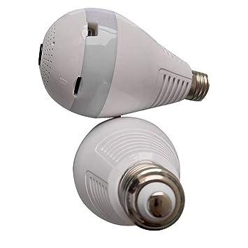 WEISHAZI 360 ° Panorámica HD Inalámbrico Fisheye Seguridad Monitor De Cámara Oculta Bombilla LED Teléfono WiFi