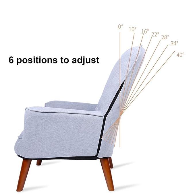 Amazon.com: Sofá individual reclinable y ajustable, silla ...