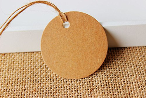 500 Pieces Round Label Tie String Price Tag Jewelry Display Tag Tags Dia:4.8cm