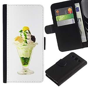 JackGot ( Divertente saporito gelato ) Samsung Galaxy S3 III i9300 i747 la tarjeta de Crédito Slots PU Funda de cuero Monedero caso cubierta de piel