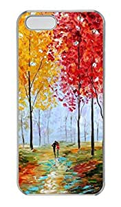 iPhone 5c Case, Unique Custom Design Painting The Autumn Hard PC Clear Protective Case Cover for iPhone 5c