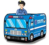 (US) Police Vehicle Pop Up Play Tent - Foldable Indoor/Outdoor Playhouse for Kids