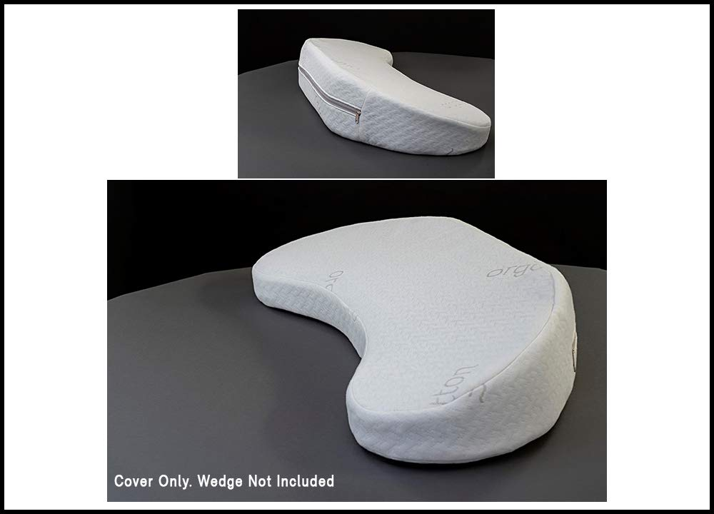 Cotton Cover for Backbone Turning Wedge - 30% Organic Cotton with Zipper, 29in x 12in x 5in by Jewell Nursing Solutions