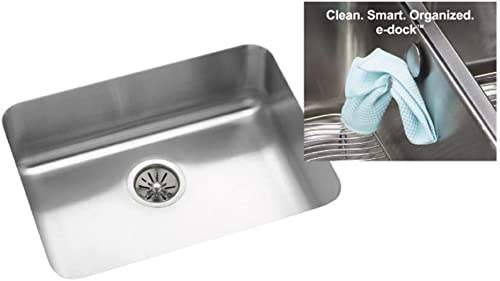 Elkay Gourmet E-Dock ELU2115EK Single Basin Undermount Kitchen Sink