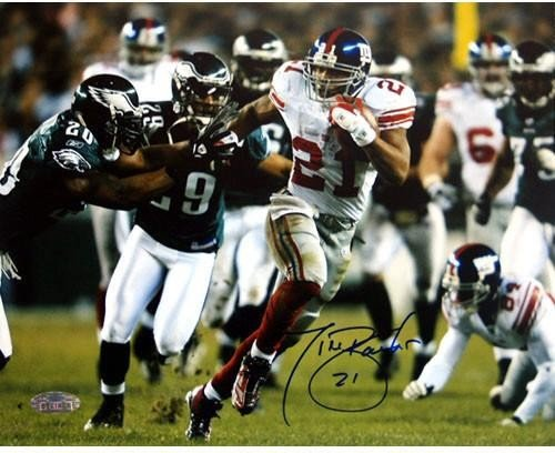 Tiki Barber Last Playoff Game Autographed Signed 16x20 Photo - Authentic Signature ()