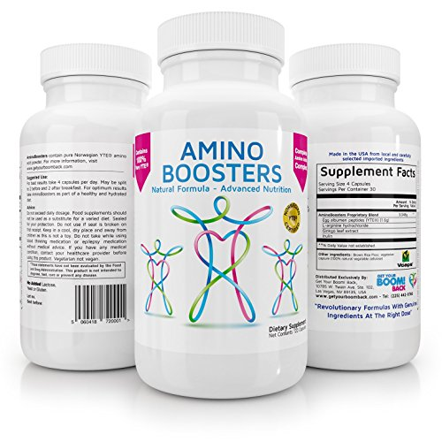 Get Your Boom Back Amino Boosters - Genuine YTE Amino Acids for more energy and better sleep - 120 count - Shark Cartilage Benefits