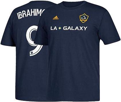 Camiseta de Zlatan Ibrahimovic LA Galaxy de adidas para hombre con nombre y número del jugador., Medium, Marino: Amazon.es: Deportes y aire libre