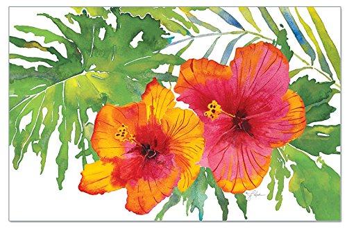 CounterArt Paper Placemat, Tropical Paradise, 24 Pk