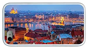Hipster iPhone 4 best cover budapest evening hungary TPU White for Apple iPhone 4/4S