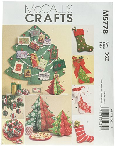 McCall's Patterns M5778 Holiday Decorations, One Size Only