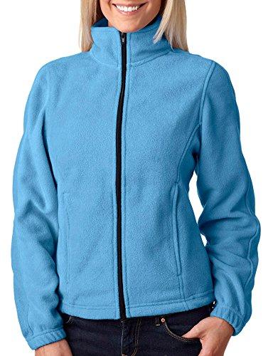 Ultraclub Ladies' Ultraclub Iceberg Fleece Full-Zip Jacket, Carolina Blue, Large