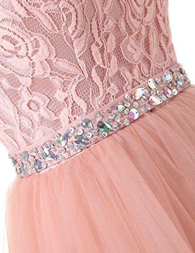 Dresstells®Vestido De Mujer Corto Espalda Con Escote Central Champán