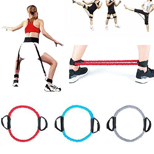 Beautyrain Bandes Yoga Pull Rope La résistance Sangle Formateur de formation de jambe Bâtiment de corps réglable Rally Fitness Set d'équipement Accueil Noir Forfar
