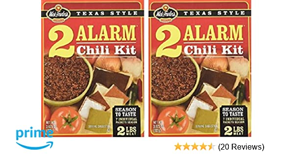 Amazon Com Wick Fowlers 2 Alarm Chili Kit 2 Bo Grocery Gourmet Food