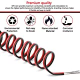 C-able Electric Wire 65.6ft(20m) 22 Gauge Wire 12v Low Voltage, 22 AWG Stranded Automotive Power Wire Extension Cable 2 Pin LED Light Strip Extend Electrical Wire with Spool for 3528 5050