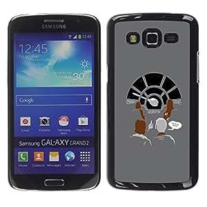 TopCaseStore / la caja del caucho duro de la cubierta de protección de la piel - Millennium Space Ship - Samsung Galaxy Grand 2 SM-G7102 SM-G7105