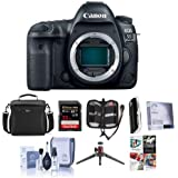 Canon EOS 5D Mark IV DSLR Body with Log - Bundle with 32GB U3 SDHC Card, Camera Case, Table Top Tripod, Cleaning Kit, Memory Wallet, Screen Protector, Card Reader, Software Package